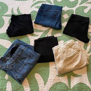 Six (6) Pairs of Maternity Pants Bundle Medium